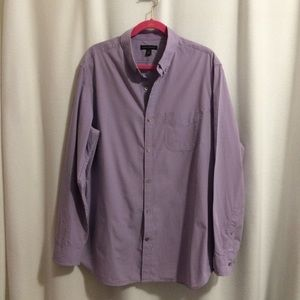 Banana Republic Dress Shirt Purple Gingham Check